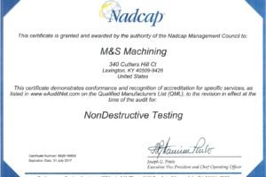 Nadcap Non-Destructive Testing Certification