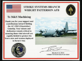 Strike Systems Branch Award, Wright Patterson Air Force Base, Award
